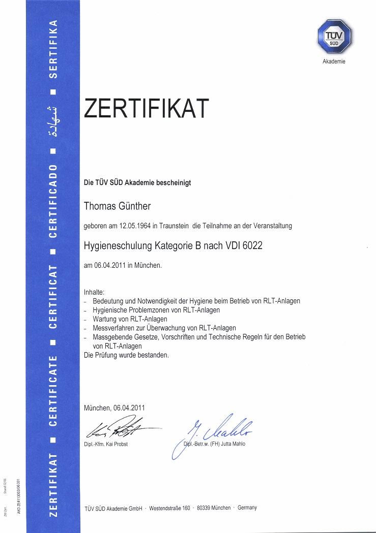 Lüftungsreinigung München günther tüv hygieneschulung 2 lüftungsreinigung
